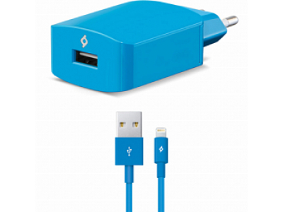 Ttec SpeedCharger USB Travel Charger, 2.1A, incl. Lighting cable Blue