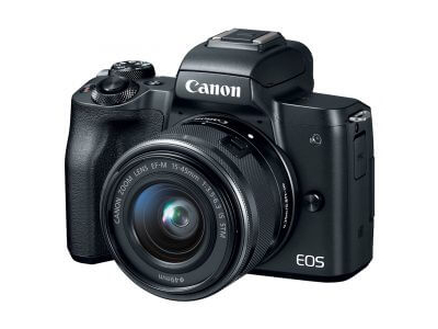 Canon EOS M50 Mirrorless Digital Camera with 15-45mm Lens Black Kit