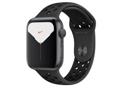 Apple Watch Series 5 Nike+ GPS 44mm Space Gray Aluminum Case with Nike Sport Band (MX3W2)