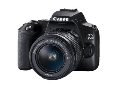 Canon EOS 250D Camera with f/4-5.6 DC III Lens – Black