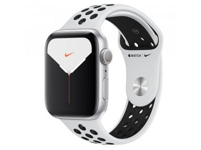 Apple Watch Series 5 Nike+ GPS 44mm Silver Aluminum Case with Nike Sport Band (MX3V2)