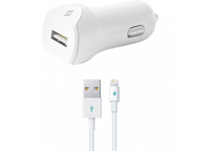 Ttec SpeedCharger USB In-Car Charger, 2.1A, Universal White