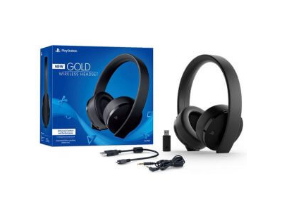PS4 Sony Playstation 4 Gold Wireless Headset 7.1 Virtual Surround Sound